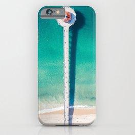 Aerial of Manhattan Beach pier iPhone Case