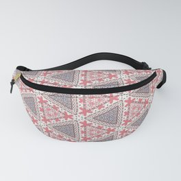 Textured Stitched Triangle Pattern Fanny Pack