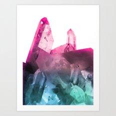 Rainbow Gems Art Print