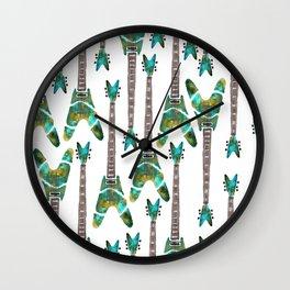 Guitar 1 Pattern - Light Wall Clock