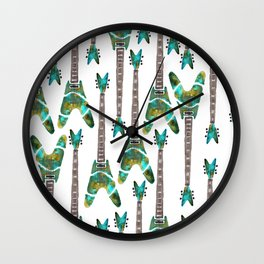 Guitar 1 Pattern - Light Wall Clock
