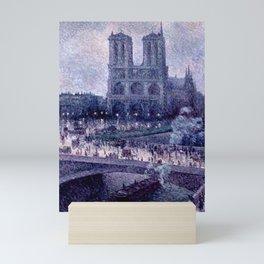 """Maximilien Luce """"Notre Dame de Paris"""" (1) Mini Art Print"""