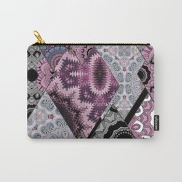 The national pattern in the patchwork . Purple Carry-All Pouch