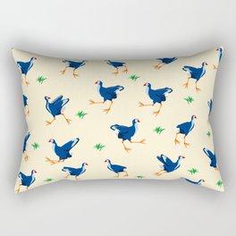 Pukeko swamp hen pattern Rectangular Pillow