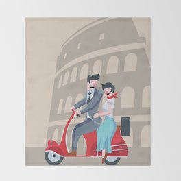 Roman Holiday Throw Blanket