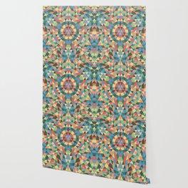 Triangle Kaleidoscope Mandala Wallpaper