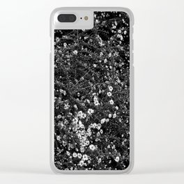 Wht flwr - white flowers Clear iPhone Case