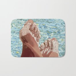 Pieds dans le sable Bath Mat
