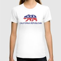 political T-shirts featuring California Political Republican Bear Distressed by Republican