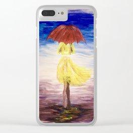 Walkin' in the rain Clear iPhone Case