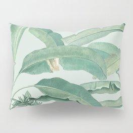 banana leaves light green Pillow Sham