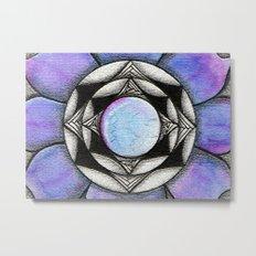 Doodled Gem Bloom Metal Print