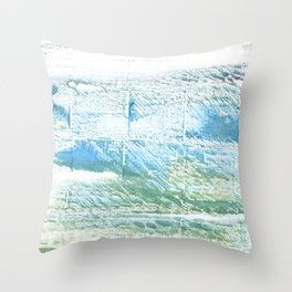 Mint cream abstract watercolor Throw Pillow