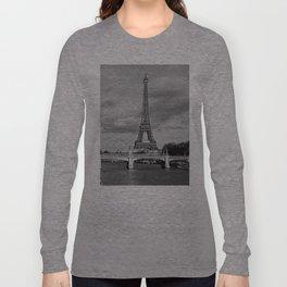 Eiffel Tower Black & White Long Sleeve T-shirt