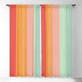 Vintage Rainbow Blackout Curtain