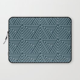 Teal blue mudcloth pattern Laptop Sleeve