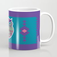 indie Mugs featuring Indie Owl by Dino DAdamo