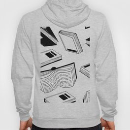 BOOK OBSESSION MONOCHROME PATTERN Hoody