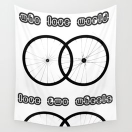 Love two wheels Wall Tapestry