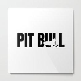 Pit Bull Breed Lover Metal Print