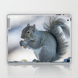 Winter squirrel Laptop & iPad Skin