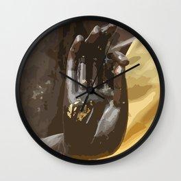 Buddha Hand Illustration Wall Clock