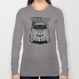 Pontiac Firebird 73 - Dark Transparent/Multi Color Long Sleeve T-shirt