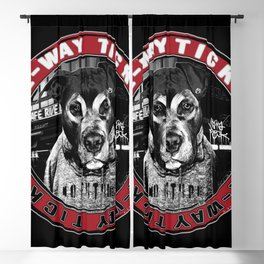 Punk Dog in the City (one-way ticket) Blackout Curtain