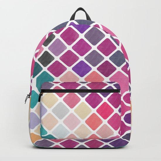 Watercolor Geometric Pattern III Backpack