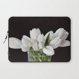 White Tulips Laptop Sleeve