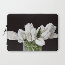 White Tulips Laptop Sleeve
