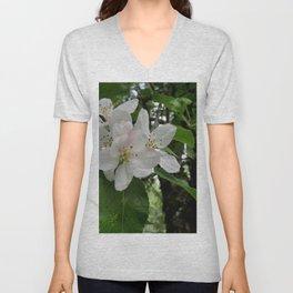 Wild Maine Apple Blossoms Unisex V-Neck