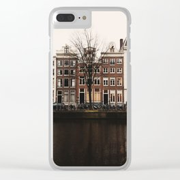 Sepia Canals Clear iPhone Case
