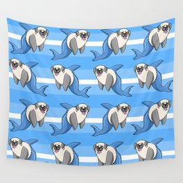 Sharky Pug Wall Tapestry
