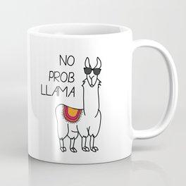 No Prob Llama - black Coffee Mug