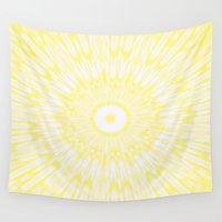 lemon Wall Tapestries featuring Lemon by SimplyChic