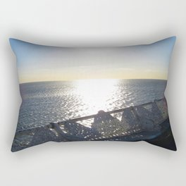 Sunny Day On Central Pier In Blackpool  Rectangular Pillow