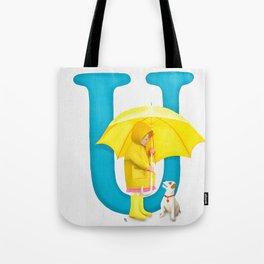 U is for Umbrella Tote Bag