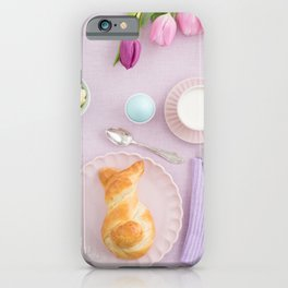 Easter breakfast iPhone Case