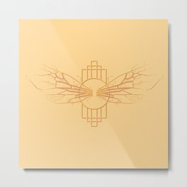 Bee wings fractured Metal Print