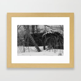 Winter graveyard  Framed Art Print