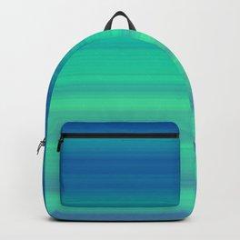 Blue Green Gradient Stripes Backpack