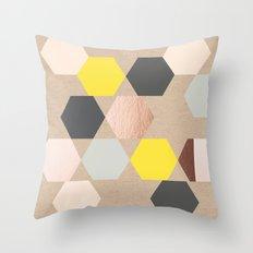 Art Rhombus Throw Pillow