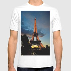 Lighting the Tower MEDIUM White Mens Fitted Tee