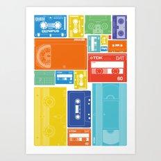 Cassette Heaven Art Print