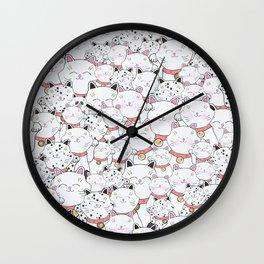 FIND THE PANDA - LUCKY CAT Wall Clock