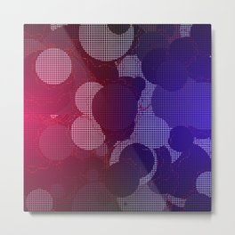 Hazy Grid Metal Print