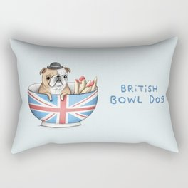 British Bowl Dog Rectangular Pillow