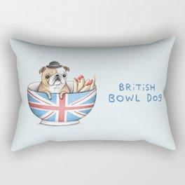 British Bowl Dog Rectangular Pillow