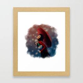 Film Tarot - Amélie as The Fool Framed Art Print